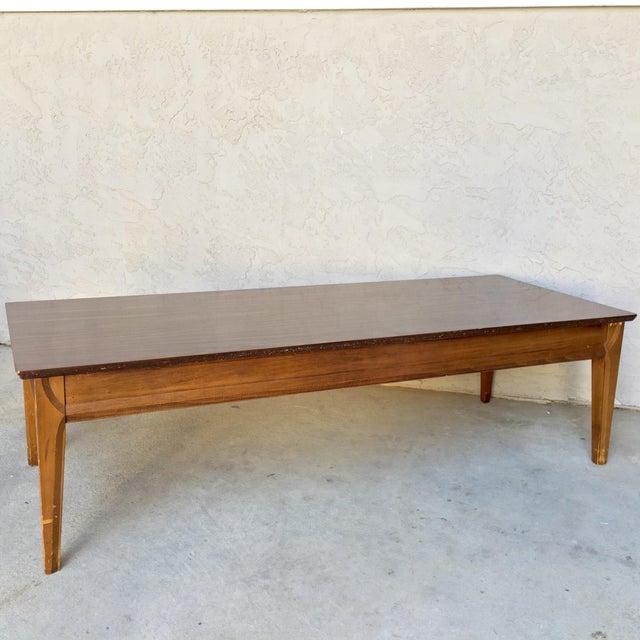 Mid-Century Kent Coffey Long Walnut Coffee Table