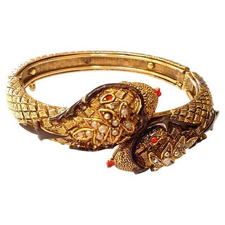 Art Company 60s Double Snake Head Bangle