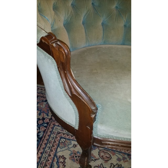 Antique Victorian Fainting Couch - Image 5 of 10