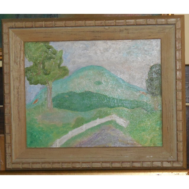 Image of Antique Landscape Oil Painting