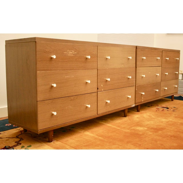 Midcentury Modern 6-Drawer Dressers, a Pair - Image 3 of 11