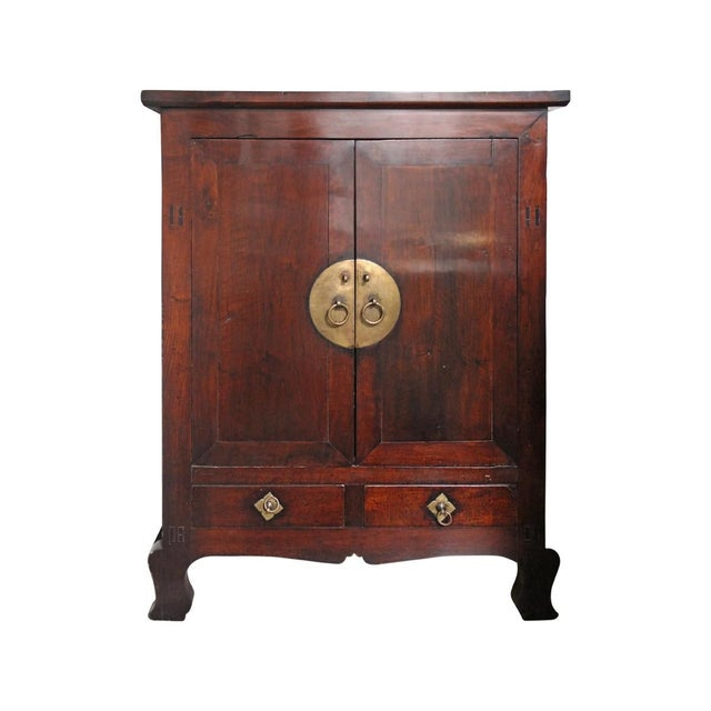 Image of Antique Chinese Mahogany Armoire
