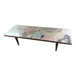 1960's Mid-Century Agate/Stone Coffee Table