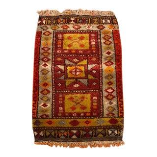 Vintage Mother Goddess Anatolian Wool Rug - 1'4'' 2'