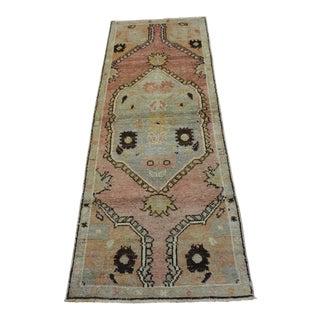 "Traditional Turkish Wool Rug - 2'1"" x 5'11"""