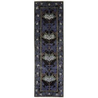 "Arts & Crafts, Hand Knotted Runner Rug - 2' 7"" x 8' 5"""