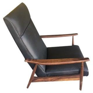 Custom Highback Leather Lounge Chair