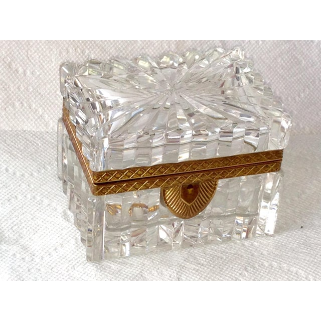 Image of French Cut Crystal Banded Jewelry Box