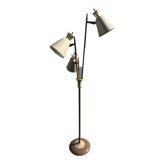 Mid-Century Metal Bullet Shade Floor Lamp