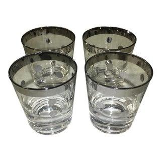 Vintage Polka Dot Rocks Glasses - Set of 4