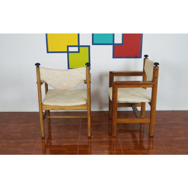Vintage Walnut Armchairs - A Pair - Image 3 of 8