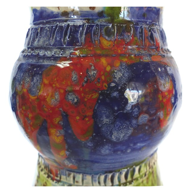 Multi-Colored Glazed Ceramic Vase by Gary Fonseca - Image 5 of 8