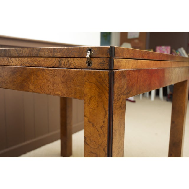 Burl Wood Fliptop Expandable Dining Table - Image 3 of 9