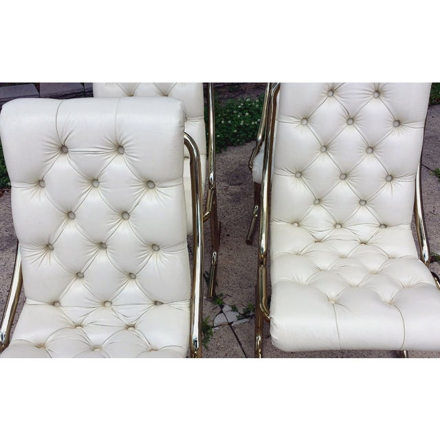 Daystrom Tufted White Dining Chairs - Set of 4 - Image 4 of 10