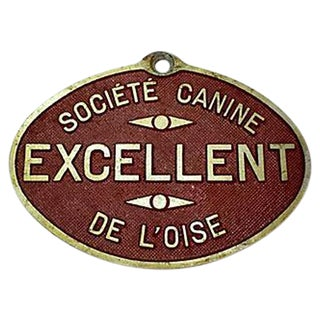 French Dog Show Prize Plaque