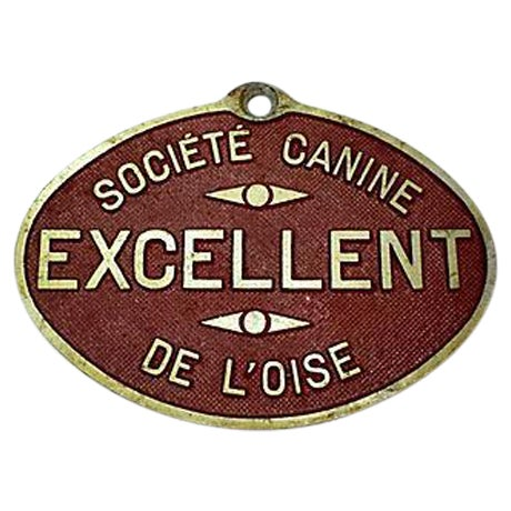 French Dog Show Prize Plaque - Image 1 of 3