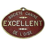 Image of French Dog Show Prize Plaque
