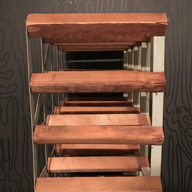Mid-Century Wood and Metal Wine Rack - Image 6 of 8