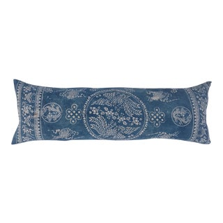 Blue & White Batik Hill Tribe Pillow