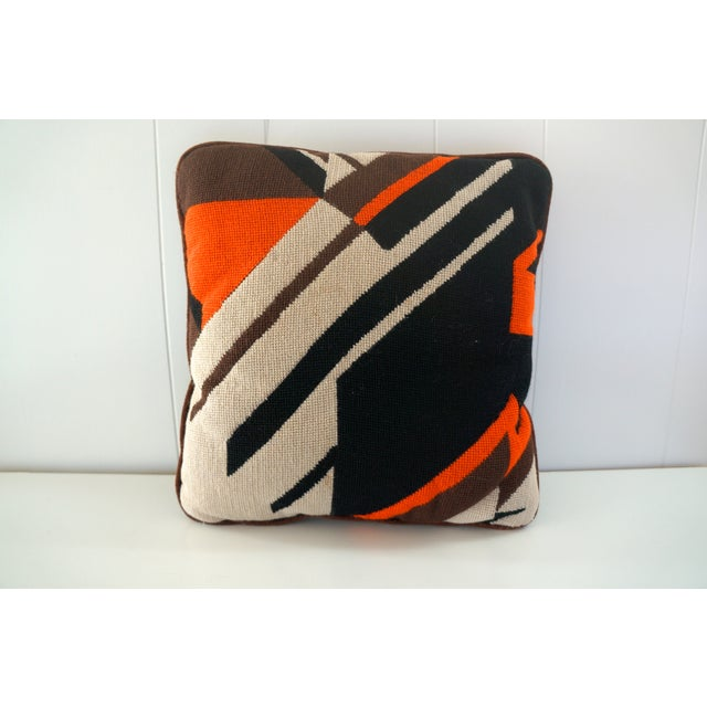 Abstract Needle Point Pillow - Image 2 of 5