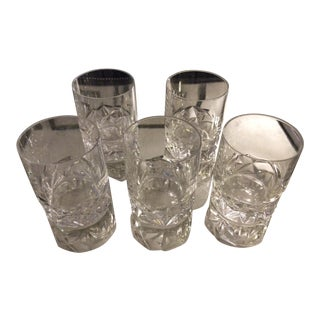 Tiffany & Co. Rock Cut Crystal Cocktail Glasses - Set of 5
