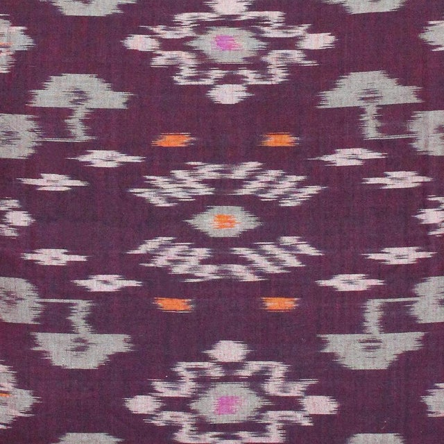 Karma Purple Balinese Handwoven Ikat Pillow - Image 4 of 5