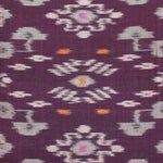 Image of Karma Purple Balinese Handwoven Ikat Pillow