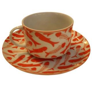 Herringbone Pattern Mug & Plate Set