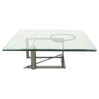 Mid-Century Modern Chrome & Glass Coffee Table