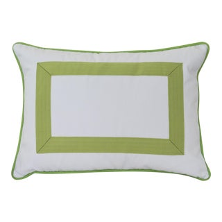 Green Grosgrain Ribbon Pillow