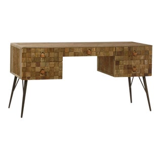 Modern Reclaimed Wood Writing Desk