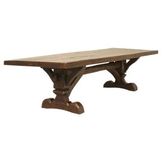 Antique Country French Trestle Table