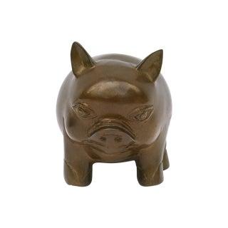Handmade Bronze Pig Figurine