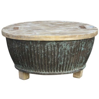 Reclaimed Aged Drum Coffee Table