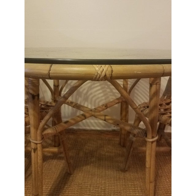 Vintage Franco Albini Rattan Table & Chairs - Image 2 of 11