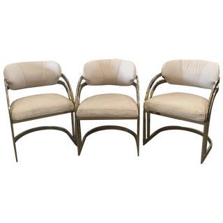 Milo Baughman-Style Vintage Armchairs - Set of 3