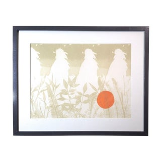 """Marian Glomb """"Silent Watch"""" Etching"""