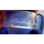 Image of 1931 Lalique Cabochon Blue Glass Domed Ring