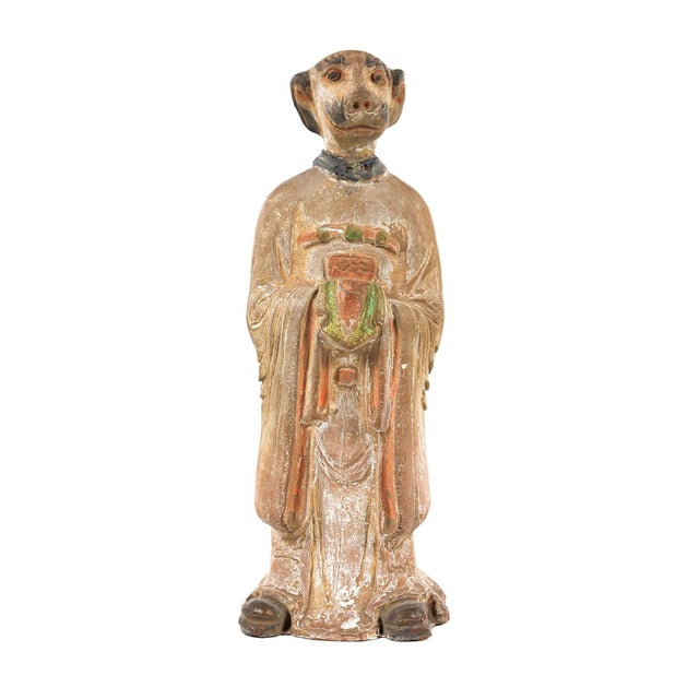 Antique Chinese Zodiac Dog Figurine - Image 5 of 9