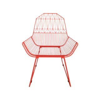 Bend Goods Farmhouse Orange Lounge Chair