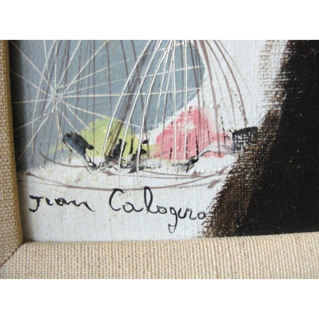"""Jean Calogero Oil Painting """"Patrizia"""" (signed) - Image 8 of 8"""