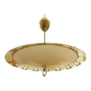 Lightoleir Mid-Century Retractable Atomic Saucer Chandelier