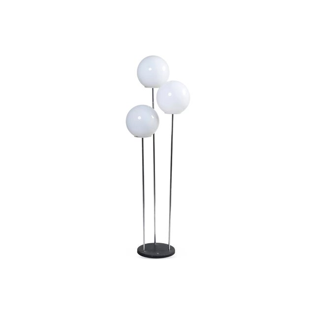 Vintage 3-Globe Floor Lamp - Image 1 of 3