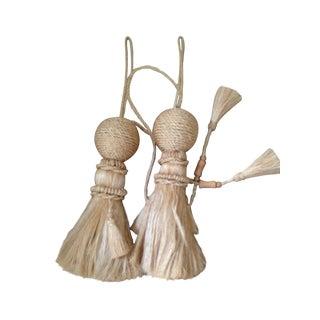 French Raffia Tie Back Tassels