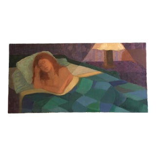 Contemporary Painting of A Sleeping Woman
