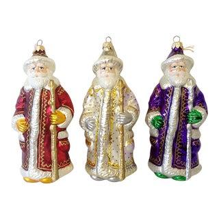 Polonaise Kurt Adler Santa Ornaments - S/3