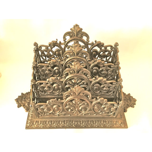 Victorian Brass Letter Holder - Image 3 of 7