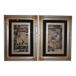 Neoclassical Silver Framed Prints - A Pair