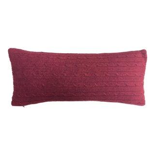 Dark Red Cashmere Throw Pillow