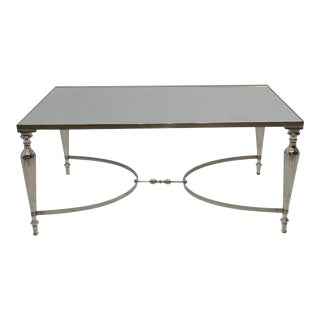 Mirror Top Nickel Plated Coffee Table